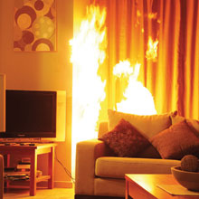 Fire on the couch
